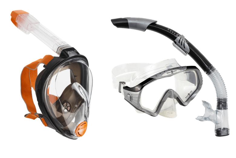 full face snorkel mask vs traditional snorkel