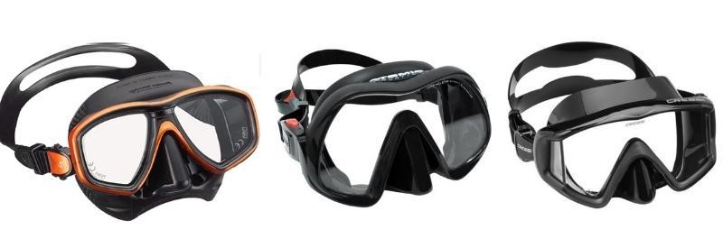 scuba mask window styles
