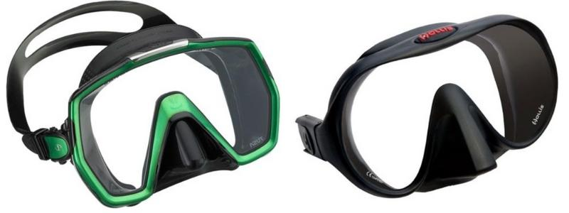 Framed vs frameless scuba mask